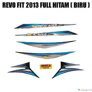 Striping Revo Fit 2013 Full Hitam ( Biru )