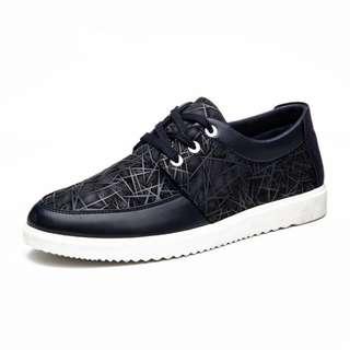 Korean fashion mens shoes PU GENUINE leather