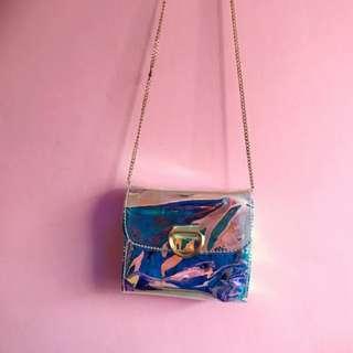 INSTOCK Holographic Translucent Bag