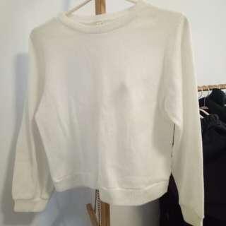 白色針織毛衣T