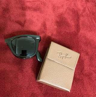 雷朋太陽眼鏡 琥珀色 摺疊款