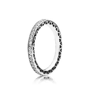 Hearts of pandora silver stackable ring
