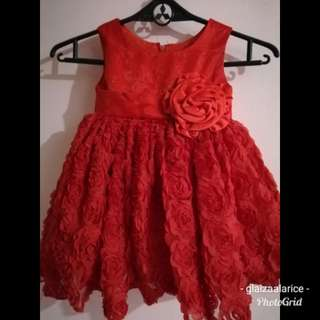 Red Perfect for 1st Birthday Dress