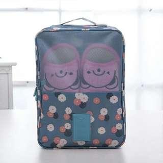 Tas Sepatu Travel Ventilation Waterproof - Blue