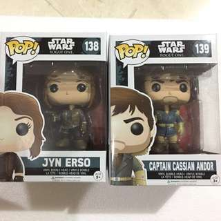 Star Wars Jyn Erso and Cassian Andor SET