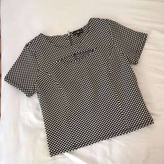 POLKA DOT BLOUSE (WITH SMALL CUT OUT IN CHEST AREA)