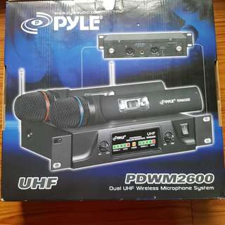 Pyle UHF Dual Wireless System PDWM2600
