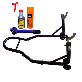 Package Jimat Paddock Stand Bike Cleaner Repsol Chain Lube Berus Rantai