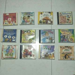 Assorted Kids Songs DVDs