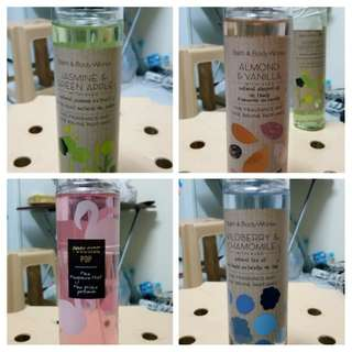 Bath & Body Body Mist and Perfume