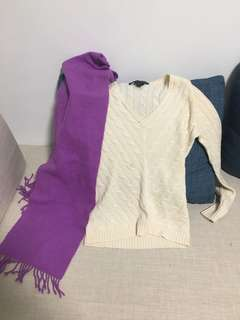 Ralph Lauren Sweater and Scarf for $10