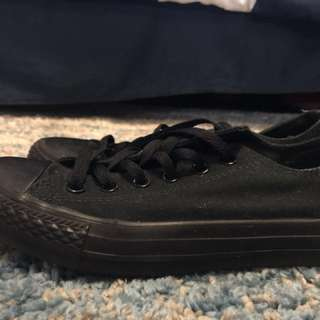Converse black all stars shoes