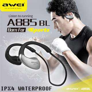 Waterproof IPX4 ABS Speaker NFC Stereo Awei A885Bl Wireless Earpiece Earphone Headset