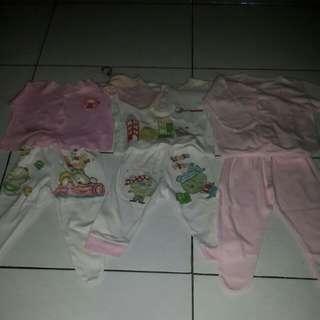 SALE 3pasang baju+celana bayi