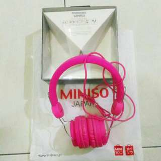 [SALE] Comfortable Headphone MINISO Pink