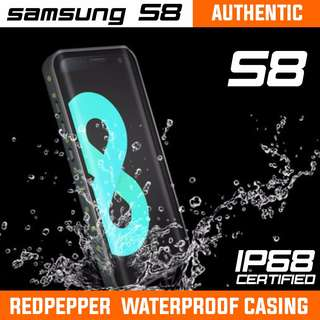 SAMSUNG S8 WATERPROOF CASING AUTHENTIC REDPEPPER. INSTOCK