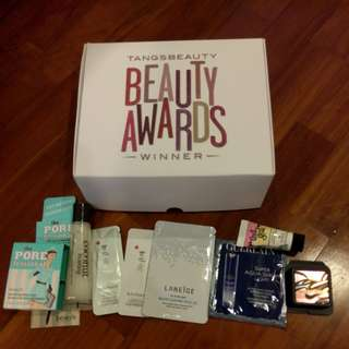 Box of 9 Beauty Products (mix of travel & Sample sizes)