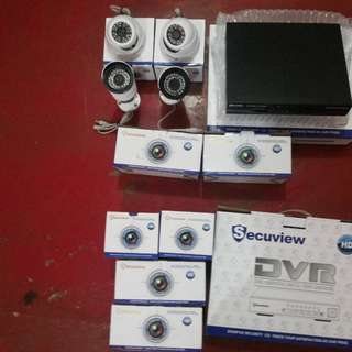 ( NEW CCTV ) 2 indoor and 2 outdoor with 4 channel DVR. ON SALE for P8,000 pesos only