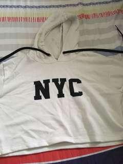 NYC crop top hoodie