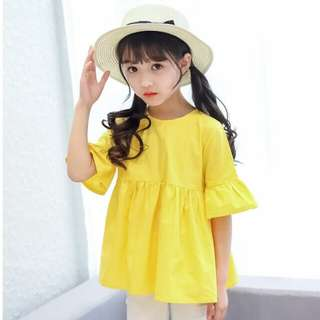 Fashion Trumpet Short Sleeve Loose Shirt