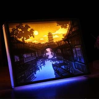 DIY Lighted Paper Art Frame - Jiang Nan Acrylic Frame