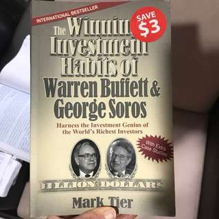 The winning investment habits of Warren Buffet & George Soros