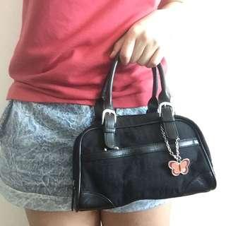 Carlo Rino black small handbag