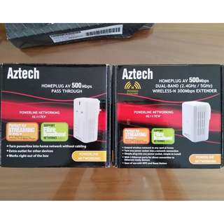 Aztech HL117EP and HL117EW Home Plug