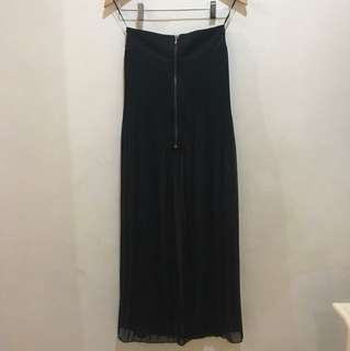 Bershka Black Maxi Skirt