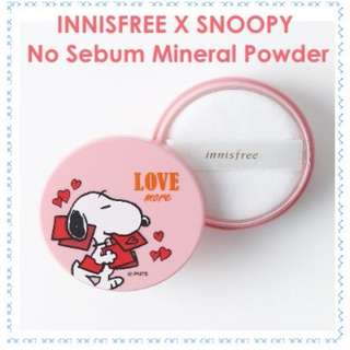 Innisfree x Snoopy No Sebum Mineral Powder Limited Edition