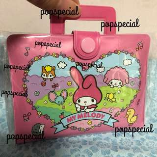 Last SET left My Melody Multi Purpose Pouch Card Holder with envelope stickers memo paper