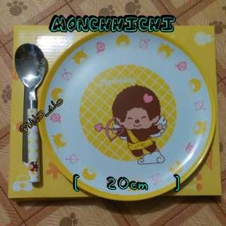 CircleK × Monchhichi 限量碟+匙( 黃色 )