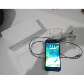 Second iPhone 6 16GB Grey Fullset,Mulus,No Dent,No Bongkar Bonus Case