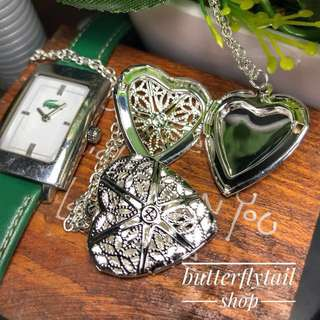 Heart Locket Silver Plated Necklace