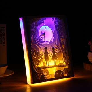 DIY Lighted Paper Art Frame With Clock - Forever Clock Acrylic Frame