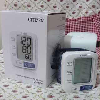 Citizen CH650 digital blood pressure monitor電子手腕式血壓計