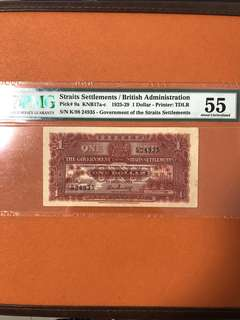 1925 $1 straits Settlement