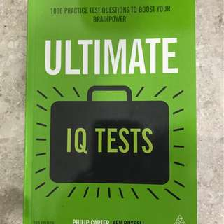 Ultimate IQ Tests Philip Carter and Ken Russell (Never Used)