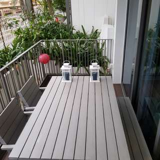 Outdoor Dining set (table +  bench + 2 chairs)