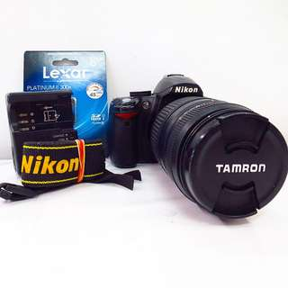 Nikon D3000 with Tamron 70-300mm f/4-5.6 zoom lens