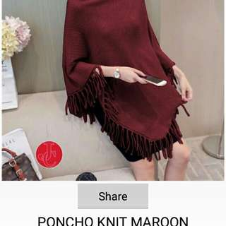 PONCHO KNIT DUSTY