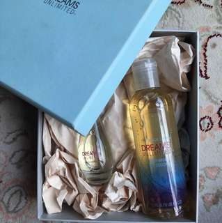 The body shop perfume and body wash set