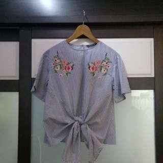 Boho Embroidery Top