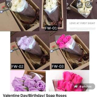 Special Gift Idea! Friendship, Birthday, proposal, special occasion - 7 stalk flower soap bouquet