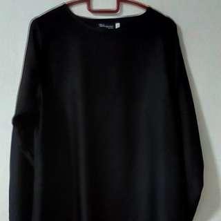 Satin black blouse