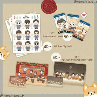 EXO Chanbaek Postcards & Stickers Set by @nanarissara_b