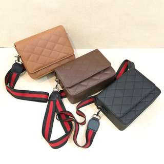 TUFTY BAG DARK BROWN