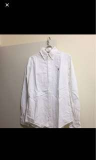 Ralph Lauren polo plain shirt 女裝白色彩馬裇衫