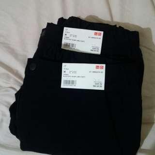 A set of 2~woman blocktech warm lined pants size m black