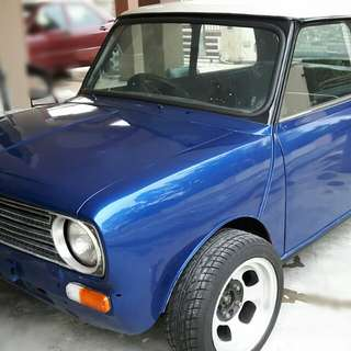 Classic mini clubman black engine